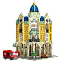 4030+Pcs MOC Corner Post Office Building Block Assembly ConstructionToys with Light