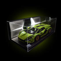 Acrylic Display Box for Lego 42115 ​Lamborghini Sián FKP 37 with Light -Rcfancier
