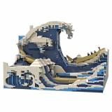 3000Pcs-3D MOC-Brick-Model-The-Great-Wave-off-Kanagawa-Rcfancier