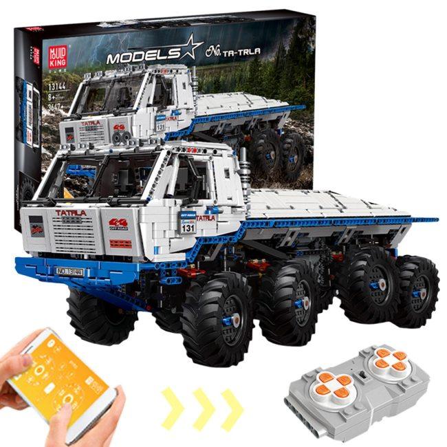 3647Pcs 1:8 8x8 2.4G 4CH Dual Remote Control Truck MOC Truck Bricks Toy