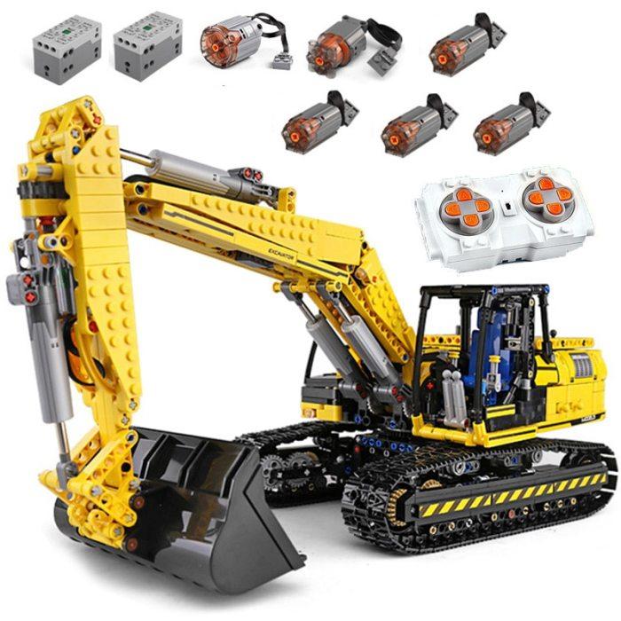 1830 Pcs Linkbelt RC Excavator Set Technic Car Model Building Block Toys