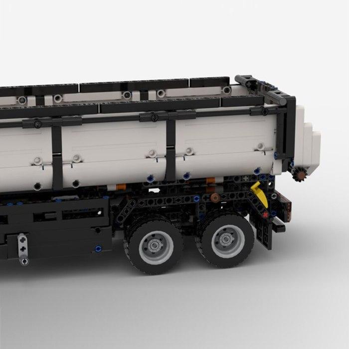 1297Pcs Dump Truck Trailer Model Building Block Model-MOC-41970