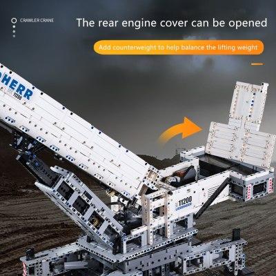 4000Pcs MOC 2.4G Multichannel RC Crawler Crane 11200 Building Block Toys