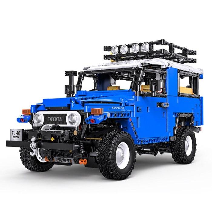 2101Pcs MOC 1:12 Totoya J40 Off-Road Vehicle Building Blocks Stem Toy