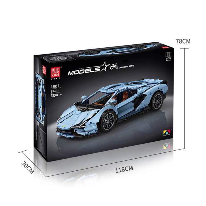 3758Pcs Technic MOC Lamborghini Sian 1:8 DIY Building Block Toys -Mould King 13057