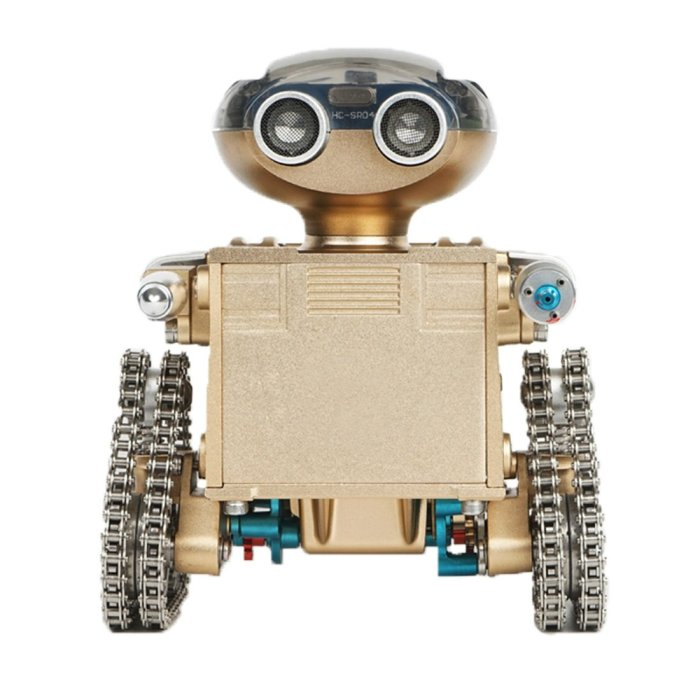 Techning Iron Foot Assembling Metal Smart Romate Controlled Tank Robot Model Toy