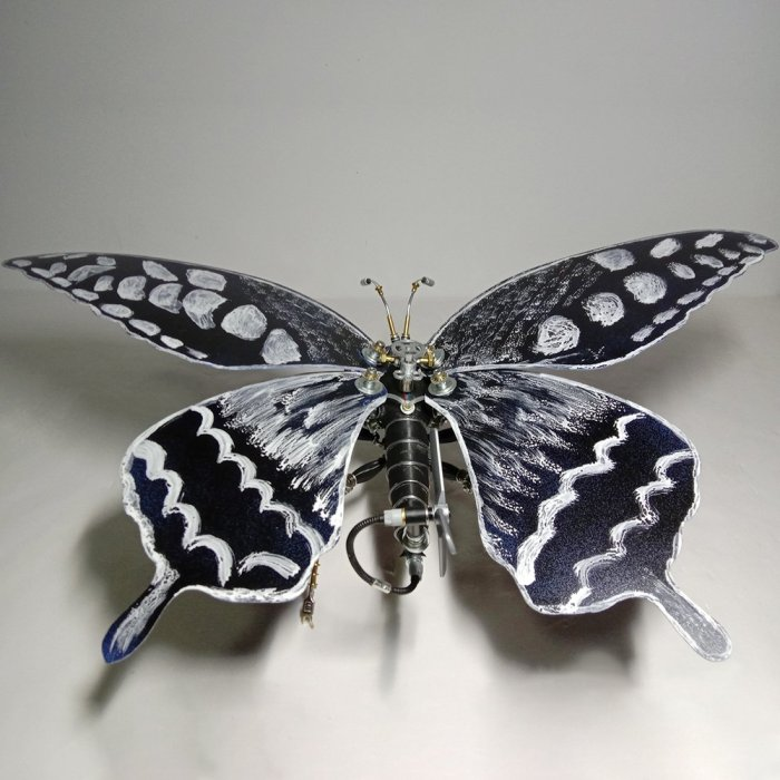 Steampunk 3D Butterfly Mechanical Metal Craft Model Insect Assembly Model Kit