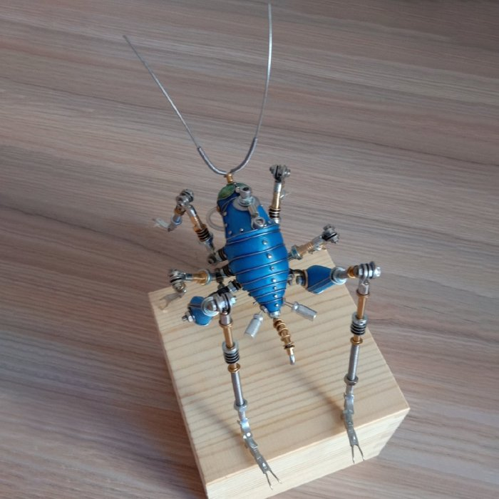 Steampunk 3D Cricket Insect Metal Assembled Model Kits for Decor