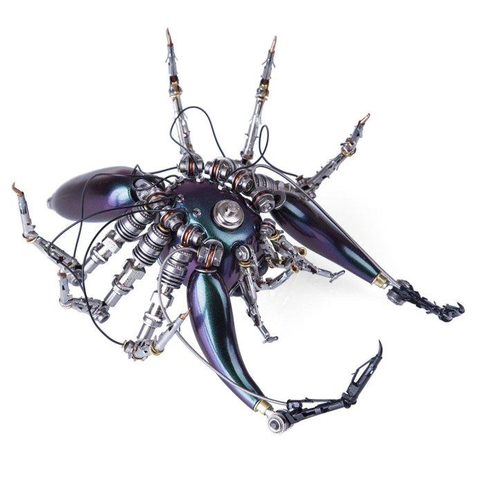 Steampunk Purple Spider Metal Model Kit 3D Assembled Arthropod Model