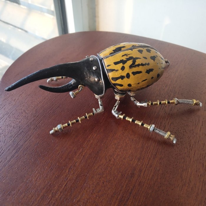 3D Mechanical Metal Model Kit Handmade Assembly Crafts for Home Decor - Dynastes