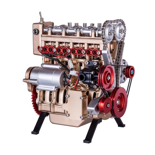 Teching 3D Assembly V4 Car Engine Model 4 Cylinders Engine Education Toys