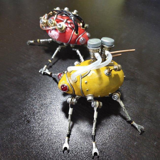 Steampunk 3D MINI Beetle Metal Model Kit