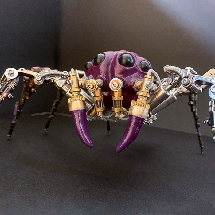 Creative Mechanical Insect Metal Model Handmade Assembled Crafts for Home Decor - Magic Spider