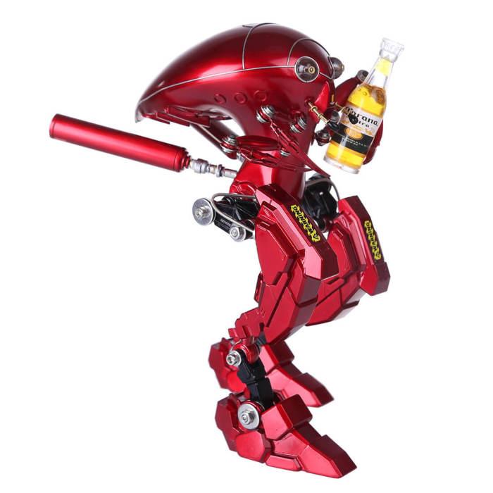 Steampunk Red Beetle Metal Armored Model Kit 3D Mini Assembled Model