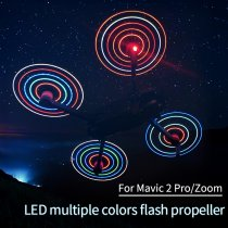 2Pairs RGB Colorful Changeable Luminous LED Propeller CW CCW Blade for DJI MAVIC 2 PRO/MAVIC 2 ZOOM Drone - Silver Edge