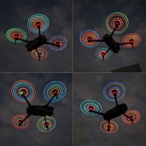 1Pair RGB Colorful Changeable Luminous LED Propeller CW CCW Blade for DJI MAVIC 2 PRO/MAVIC 2 ZOOM Drone - Silver Edge