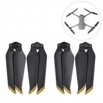 2Pairs 8473 Paddle Fan Blade Propeller for DJI MAVIC 2 PRO/MAVIC 2 ZOOM Drone - Golden Edge