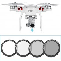 8 in 1 Filter Set 37MM Filter Kit:UV+ND4+ND8 Filter+Polarizing Filter+Adapter Ring+Case  Neewer for DJI Phantom 3 Professional/Advanced /Standard/SE