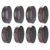 8Pcs Sports Camera Filter Set with ND4 ND8 ND16 CPL ND8/PL ND16/PL ND32/PL ND64/PL Filter for DJI OSMO Action