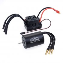 3650 2300KV Sensorless Brushless Motor with 60A ESC for 1:10 1:12 RC Model Car - Black