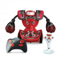 1PC RC Boxing Robots Intelligent Remote Control Fighting Double Play Toy RC Battle Robot with Boxing Target - Red