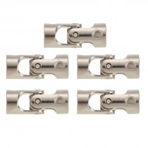 5Pcs 4 to 4mm Full Metal Universal Joint Cardan Couplings for RC Car and Boat D90 SCX10 RC4WD