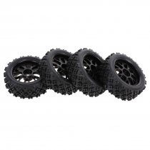4Pcs 1/10 RC On-road Star Tread Pattern Tyre for 1/10 HSP Redcat Traxxas Tamiya HPI RC Buggy
