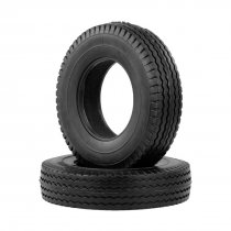 2Pcs Trailer Car Rubber Tires for 1:14 Tamiya Tractor Truck RC Climbing Trailer