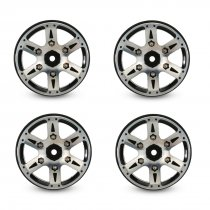 4Pcs 1.9-Inch Metal Wheel Rim Beadlock for 1/10 Traxxas TRX4 SCX10 90046 TAMIYA CC01 D90 D110 TF2 RC Rock Crawler