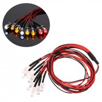 8 LED Lights Kit for 1/10 1/8 Traxxas HSP Redcat RC4WD Tamiya Axial D90 HPI RC Car (2 White + 2 Red + 4 Yellow )