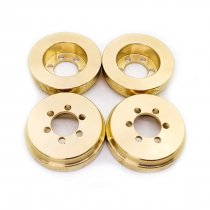 Brass Wheel Hub Counterweight Balance Weight for 1:10 SCX10 Traxxas4 Trax-4 RC Car