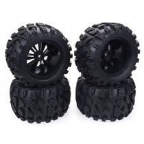 4Pcs 1/10 RC Rubber Tyre Wheel for HPI/LRP/HSP94111 94108 94188 Off-road Monster Trucks