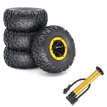 4Pcs 2.2 Inches Inflatable Wheels RC Car Tires Rubber Tires for 1/10 RC Car SCX10 TRX4 D90 90046