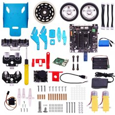 Raspberry Pi TrikeBot Smart Robot Car Kit Programmable Learning with HD Camera Video DIY Robot Kit with Detailed Electronic Tutorial for Kids and Adults
