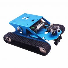 Track Robot Kit Programmable Smart Tank Mobile Platform Chassis Robot Kit Electronic Project Learning with C Language - Graphical Programming Super Climbing  for Arduino UNO R3 (Including: UNO R3)