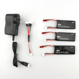 Spare Part 7.4V 15C 610MAH Lithium Battery Set - Charging for Hubsan H502S/H502E RC Quadcopter (Charger included)