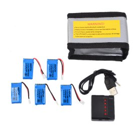 5pcs ENGPOW 380mAh Replacement Battery with X5 charger safety Explosion-proof bags for Hubsan X4/H107d Syma X3 Walkera super-cp/mini-cp MJX F47 QS9016 WLtoys V252/V939 YD 716 Helic 1306   JJRC H31