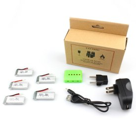 Spare Part 3.7V 520MAH Lithium Battery - Quick Charging Set for Hubsan H107P(5 batteries)