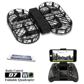 Dwi Dowellin D7 Foldable RC Quadcopter 2.0MP Camera WIFI FPV Drone with Altitude Hold
