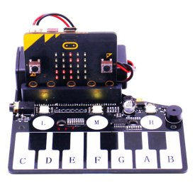 Piano Shape Expansion Board Music Development Board with RGB Colored Light Buzzer for Microbit