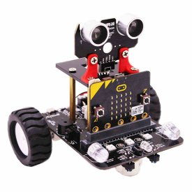 Graphical Programmable Robot Car with Bluetooth IR and Tracking Module Stem Steam Robot Car Toy for Micro:bit BBC