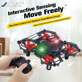JJRC 2.4G Infrared Sensing Altitude Hold Quadcopter Drone - Black Red