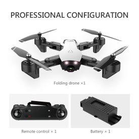 L107 2.4G Remote Control Folding Drone 4K Endurance Dual Camera Drone with Optical Flow Positioning Gestures Aerial - White