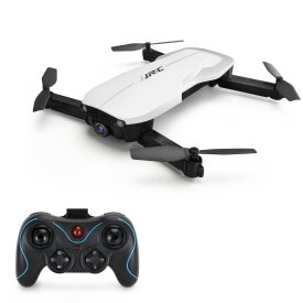 JJRC H71 1080P Wifi Remote Control Folding Drone Quadcopter Real-time Image Transmission Optical Flow Positioning Flight with Storage Bag - White