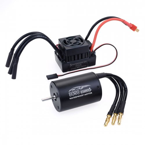 3650 2300KV Sensorless Brushless Motor with 60A ESC for 1:10 1:12 RC Model Car