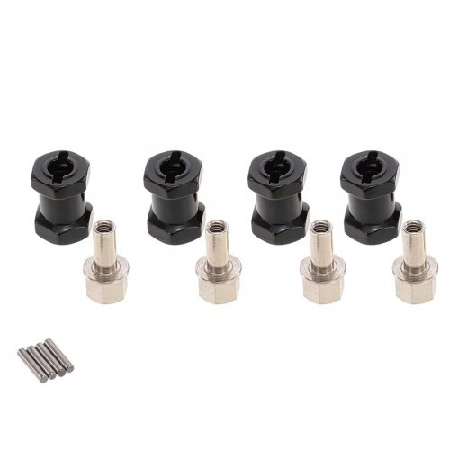 4pcs 12mm Hex 15mm Coupler Tyre Extended Adapter for RC Crawler Monster Car
