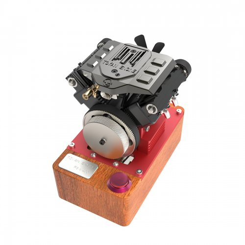 TOYAN V4 Engine Four Cylinder Four Stroke Methanol Engine FS-V400A Full Edition Engine Without T Plug Battery and Electrical Rotor for 1:10 1:12 1:14 RC Car Ship Plane