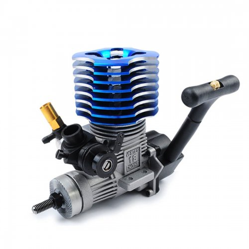 Taiwan ZhongYang Level 18 Methanol Engine (without Gearing and Hot Fire Head) - Random Blue / Purple