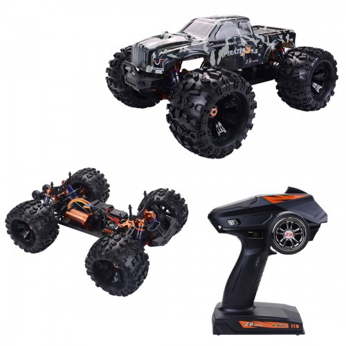 ZD Racing MT8 Pirates3 1/8 2.4G 4WD 90km/h Brushless Motor RC Car Monster Off-road Truck - Camouflage