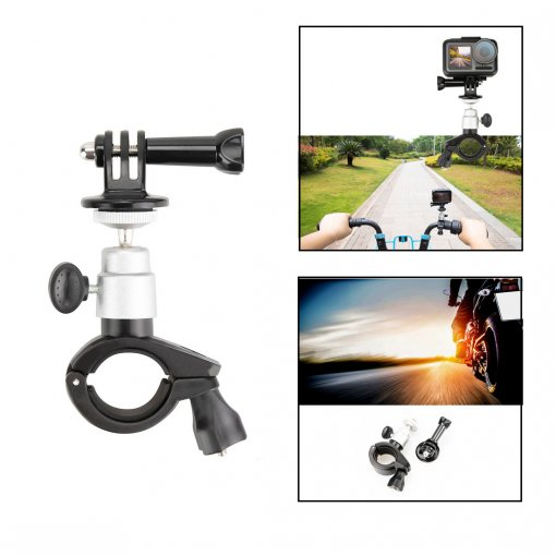 Bicycle Motorcycle Mount Bracket for DJI OSMO Action Camera - Silver